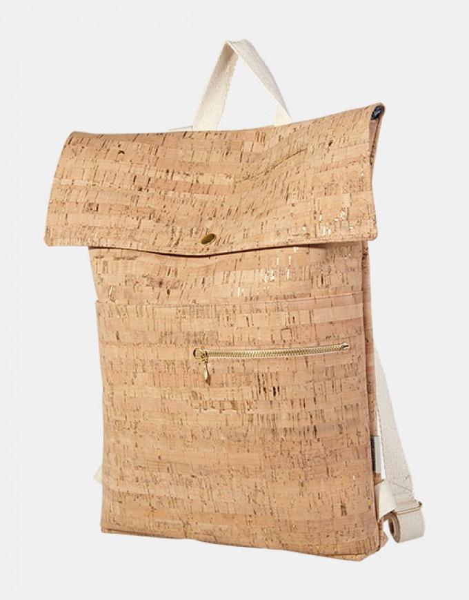 ein garten – corkskin backpack myrtonatural goldflakes