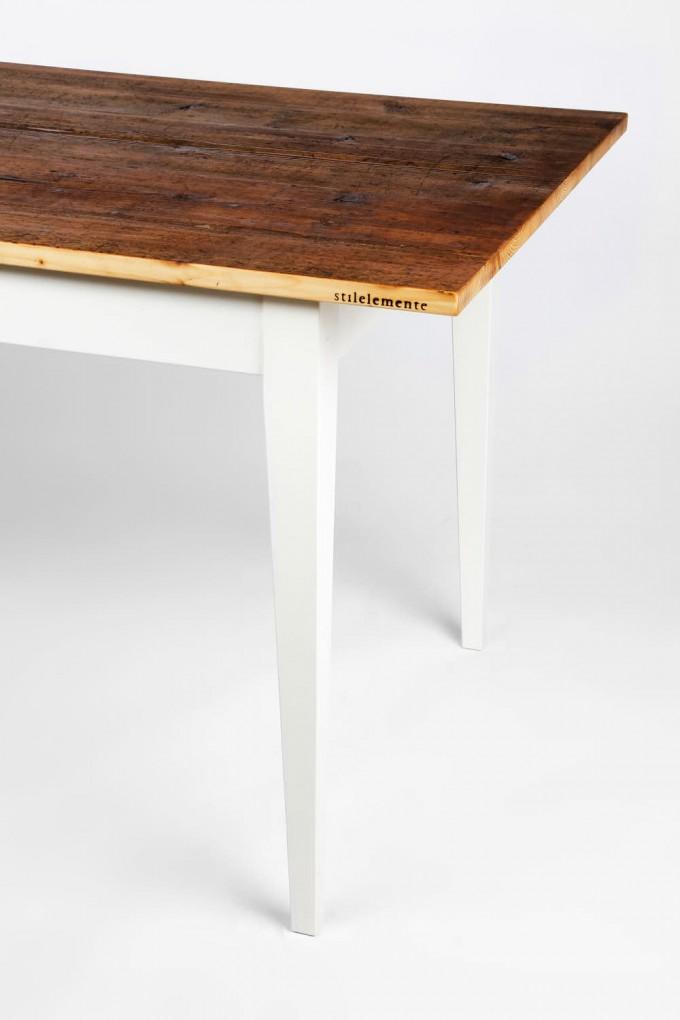 stilelemente unik tisch mit platte aus altholz