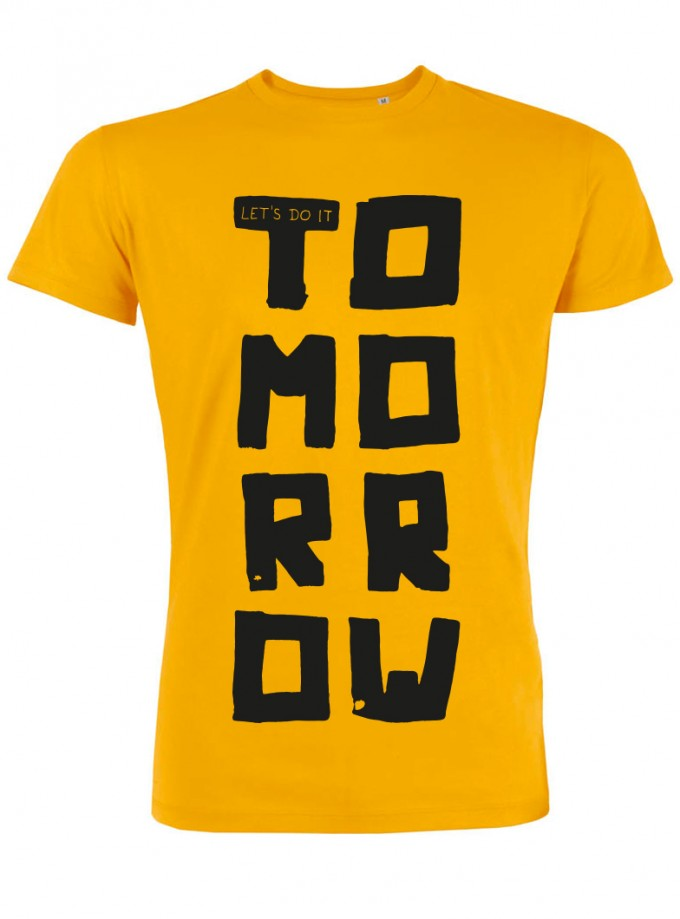 wat? Apparel Let's do it tomorrow - T-Shirt Herren