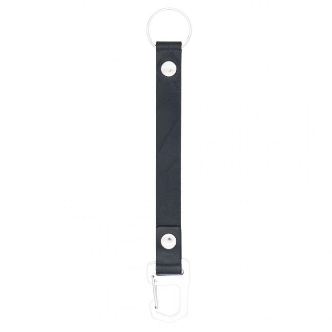 Schlüsselanhänger schwarz mit Karabiner – aus premium pflanzlich gegerbtem Leder