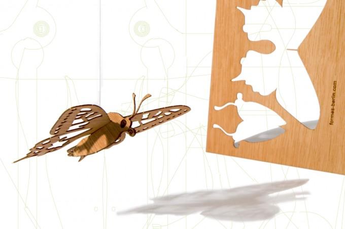 formes Berlin Schmetterling-Karten - 6 Postkarten aus Holz