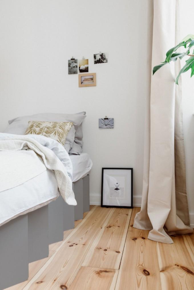 Bett 2.0 (kieselgrau) | ROOM IN A BOX