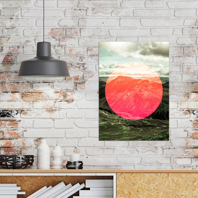 JOE MANIA / Modern Artprint Poster / Landscapes Circular  1 (Scottish Highlands) DIN A4 - A0