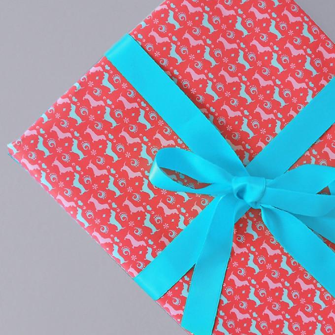 HEIMATFORMAT Geschenkpapier WALDI rot // inkl. Versand