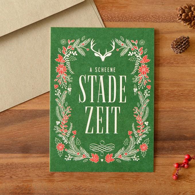 HEIMATFORMAT Bayerische Weihnachtskarte STADE ZEIT // Inkl ...