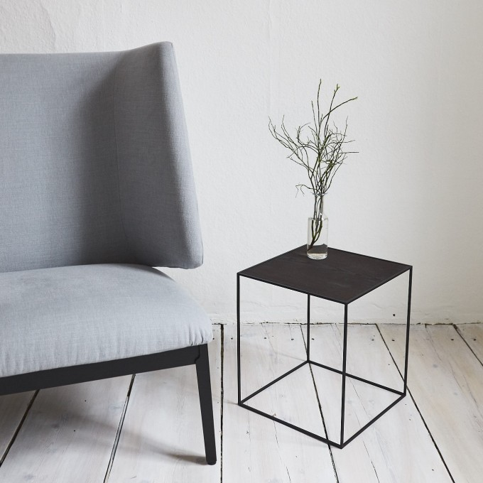 SkanBavaria Wuzzl - Beistelltisch mit Holzplatte (Esche schwarz)