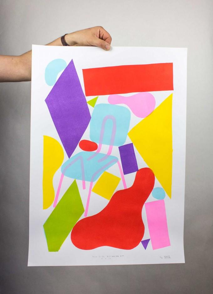 Martin Krusche - Stencilprint »Social Distancing #1« 50x70cm