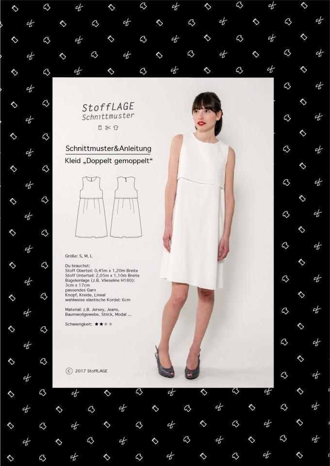 """StoffLAGE Schnittmuster Kleid """"Doppelt gemoppelt"""""""