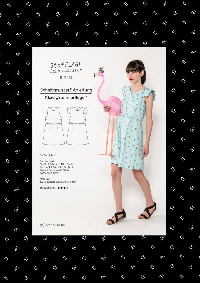"""StoffLAGE Schnittmuster Kleid """"Sommerflügel"""""""