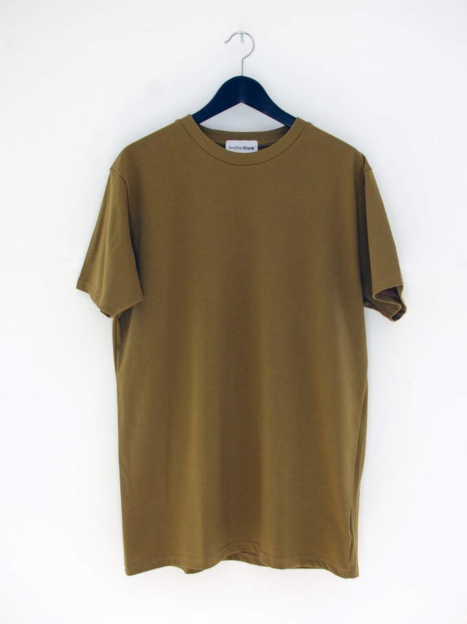 AnotherBlank HEAVY T-SHIRT OLIVE 240G AB_TS_M_009