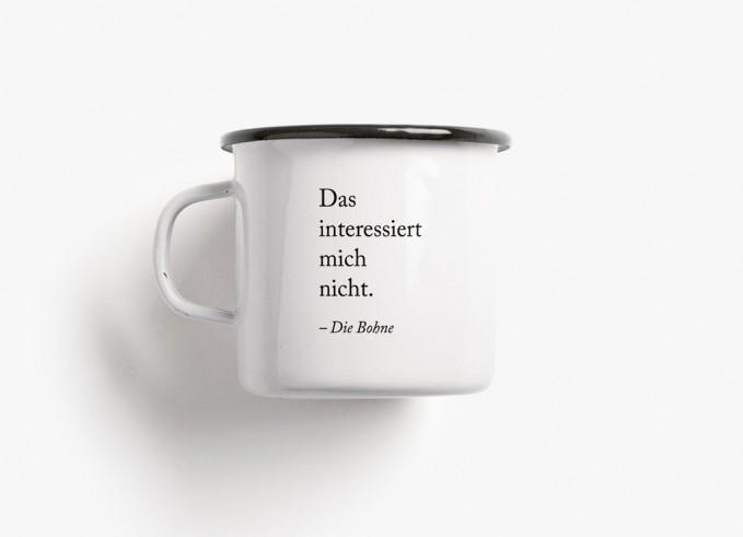typealive / Emaillebecher Tasse / Die Bohne