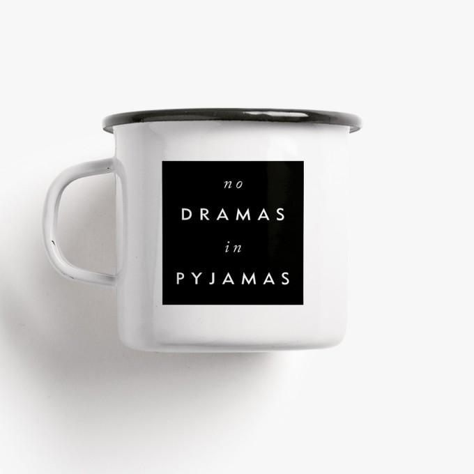 typealive / Emaillebecher Tasse / No Drama