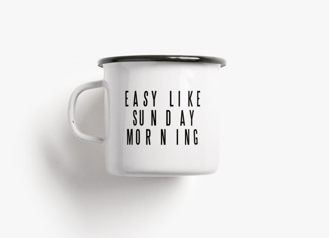 typealive / Emaillebecher Tasse / Sunday Morning
