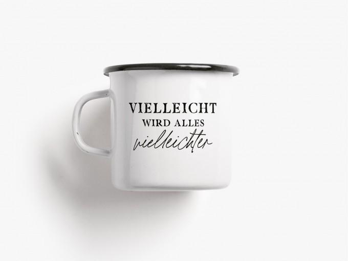 typealive / Emaillebecher Tasse / Vielleichter