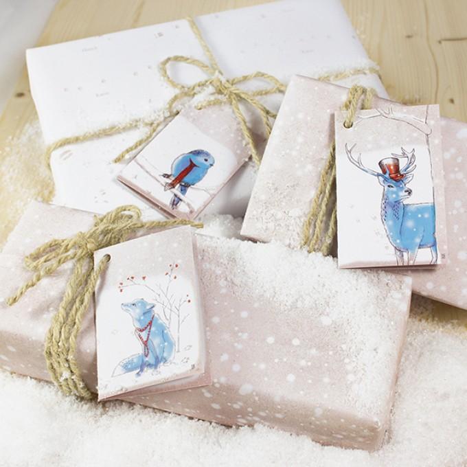 Bow & Hummingbird Wintermärchen Geschenkverpackungs-Set