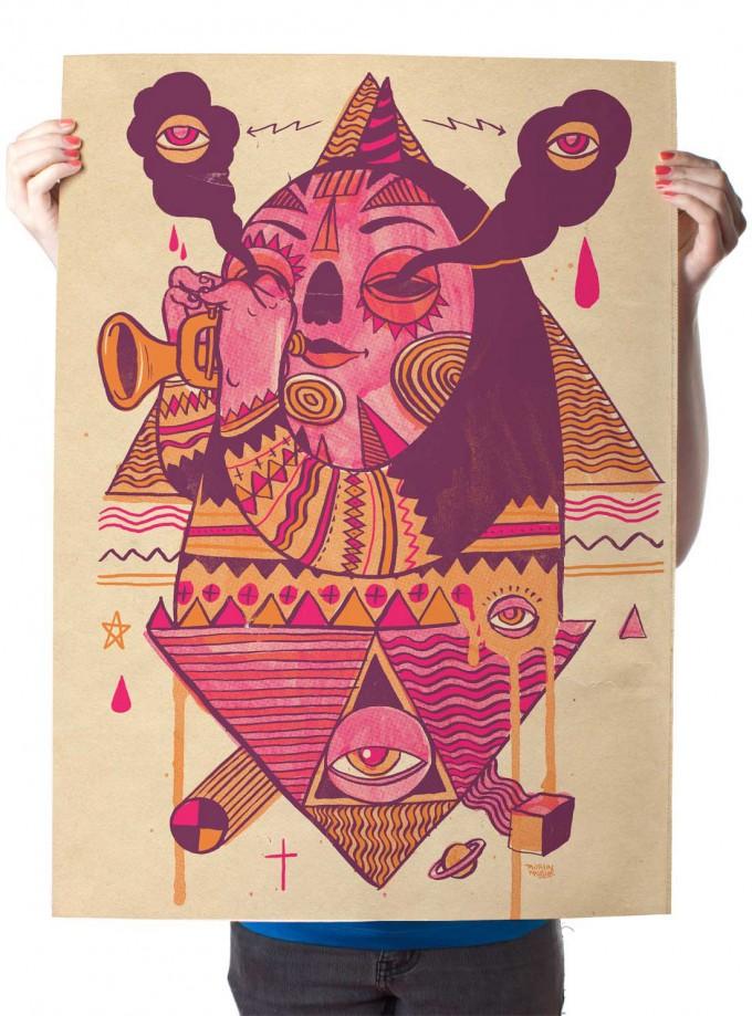 Martin Krusche – Poster »Trompeter« 50x70cm, Illustration