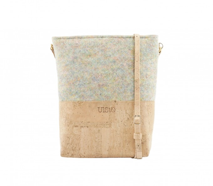 UlStO – PECTINA Handtasche Konfetti Natur Kork vegan