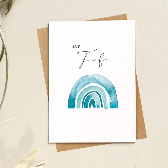 Paperlandscape | Faltkarte | Taufkarte | Regenbogen