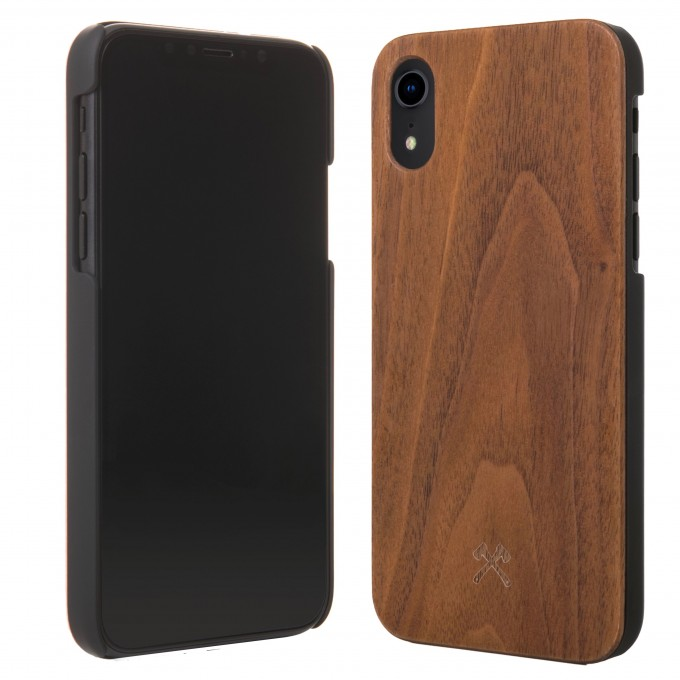 Woodcessories - EcoCase Classic - Premium Design Case, Cover, Hülle für das iPhone aus FSC zert. Holz (iPhone Xr, Walnuss, Bambus, Kirsch / schwarz)