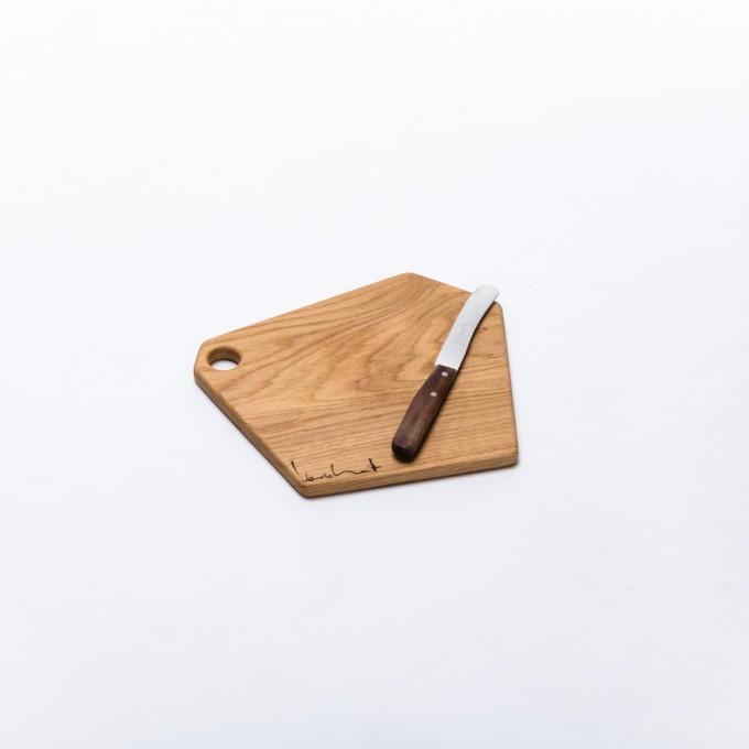 SCHNEIDEBRETT | Größe S | Brettchen aus massivem Eichenholz von Verschnitt