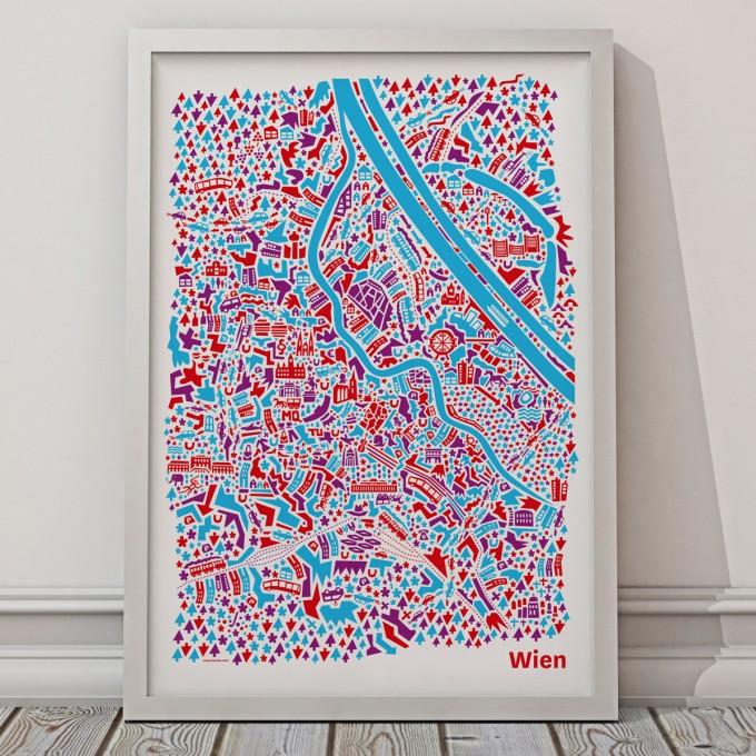 Vianina Wien Poster 50 x 70