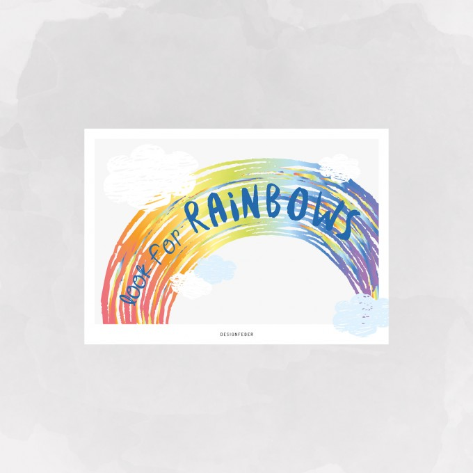 designfeder | Postkarte look for Rainbows