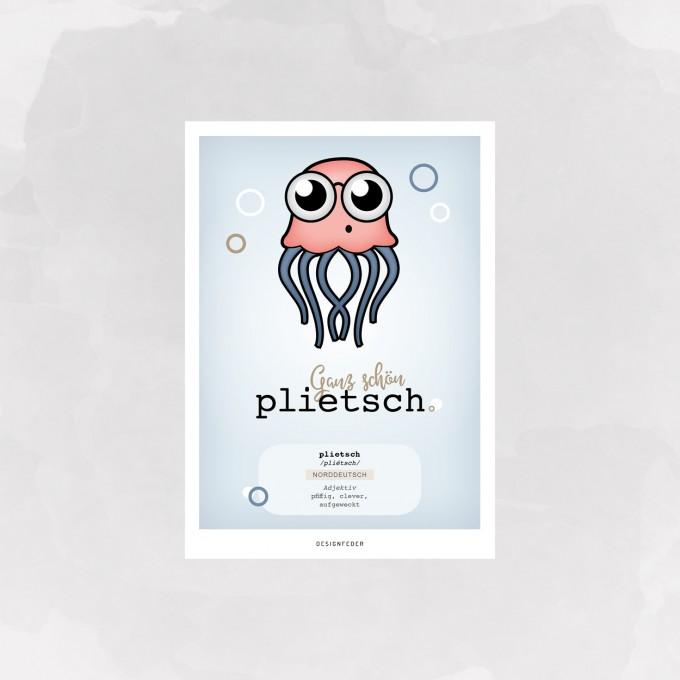 designfeder |Postkarte Plietsch