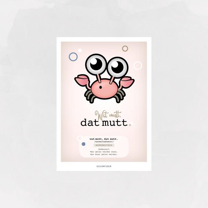 designfeder | Postkarte Wat mutt, dat mutt