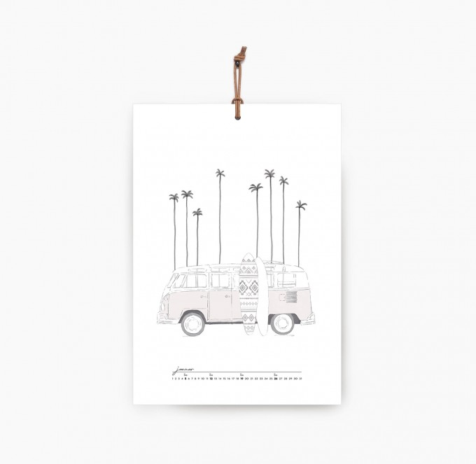 Kruth Design KALENDER 2020 / WANDERLUST