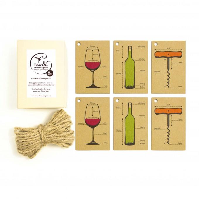 Bow & Hummingbird Geschenkanhänger Weinbedarf