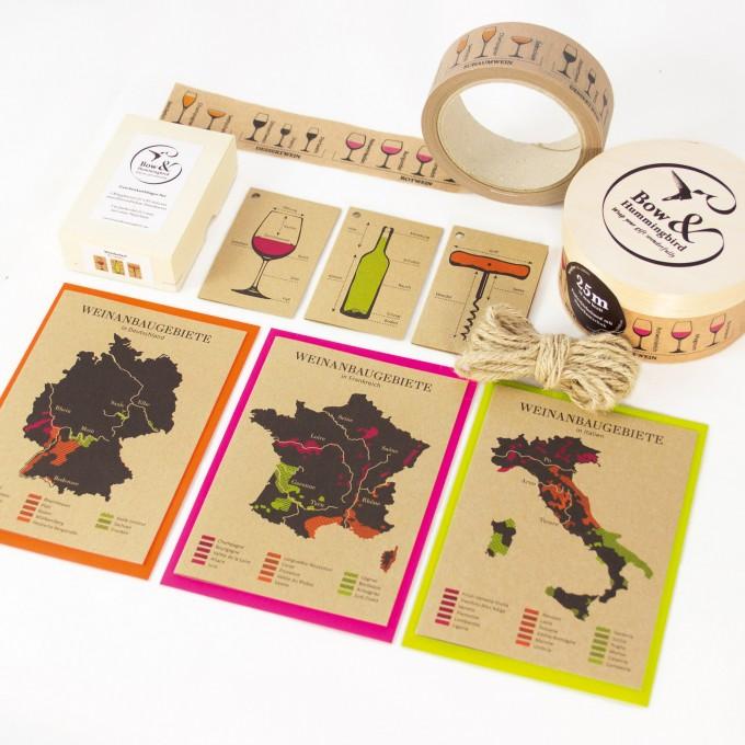 Bow & Hummingbird Wein Geschenkverpackungs-Set I