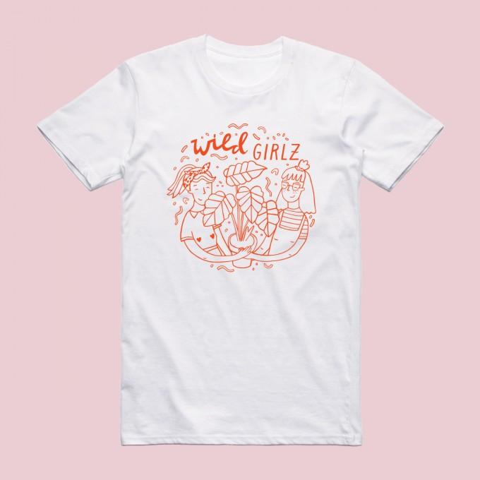 Notietzblock Wild Girlz Tshirt - Print in rot