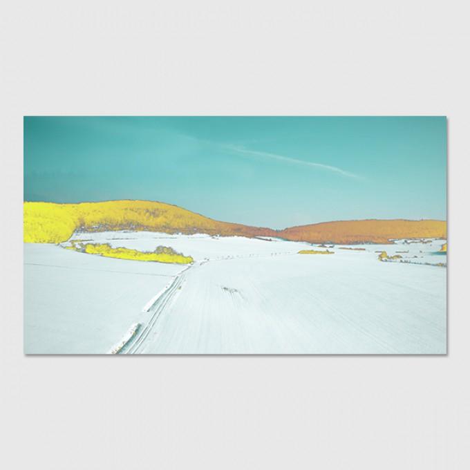 """ZEITLOOPS """"Winterlandschaft 2"""", Poster 16:9"""