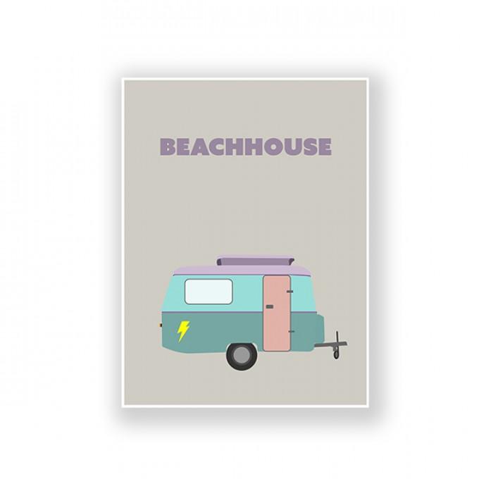 "ZEITLOOPS ""Caravan, BEACHHOUSE"", Fineartprint, 45x60cm"
