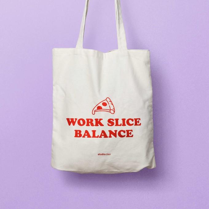 """Work Slice Balance """"Jubiläumsedition"""" Jutebeutel – studio ciao"""