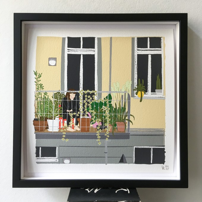 "Neighbour Series ""Neighbour No. 17"" – YUKY RYANG, Giclée-Druck, Format 28 x 28 cm"