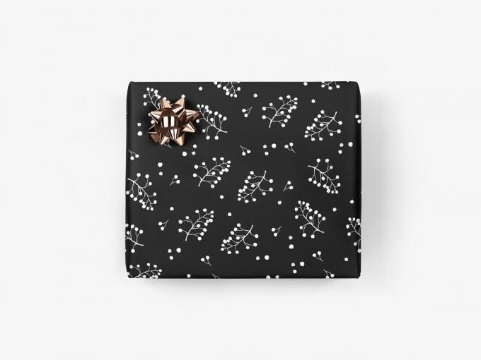 5x Geschenkpapier / Zweige No. 2 (gefaltet)