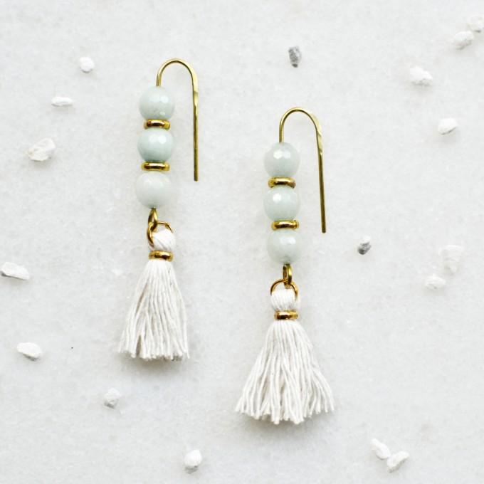 Gudbling // Amazonit Tassel Ohrringe