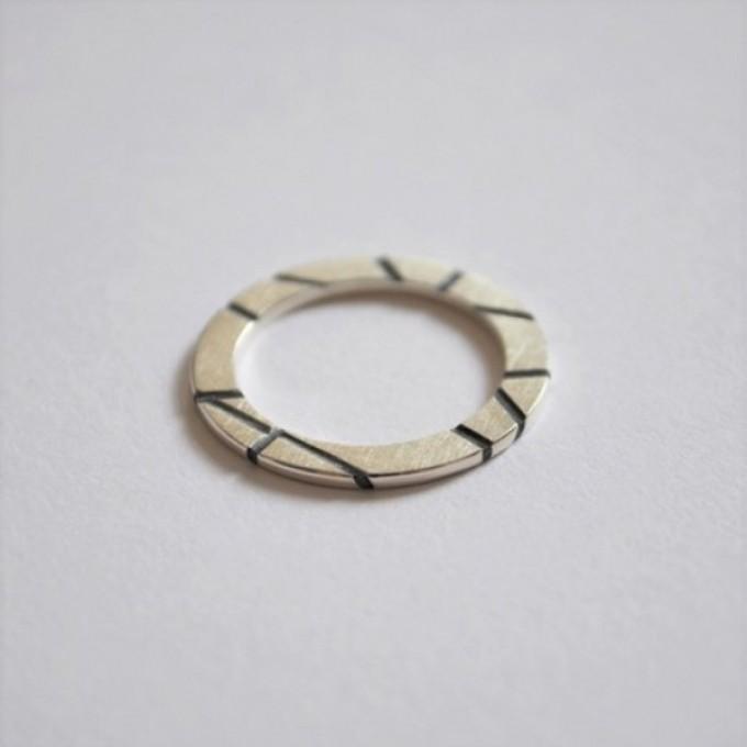 """Ring """"Vertieft"""" aus 925/- Silber von Doppelludwig"""