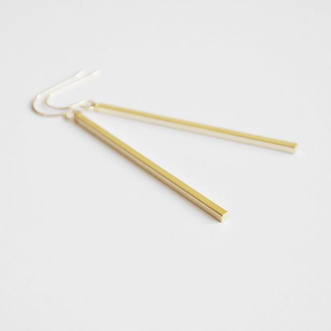 na.hili OHRRINGE - Stäbchen - Weißgold oder Gelbgold