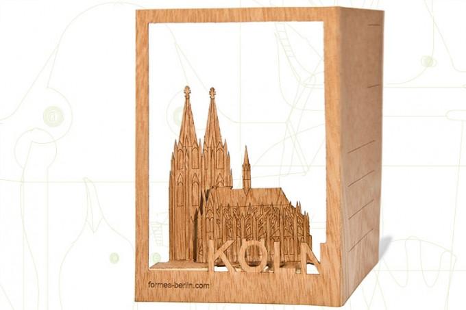 formes Berlin Köln-Karten - 6 Postkarten aus Holz