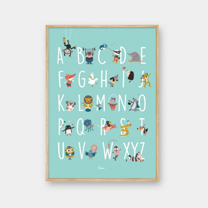 julica-design ABC Poster - Alphabet der Tiere