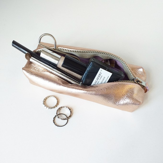 Grotkop Collection AIR klein Kupfer/Beige italienisches Leder