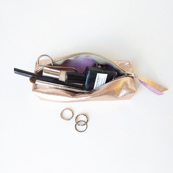 Grotkop Collection AIR klein Kupfer/Pink italienisches Leder
