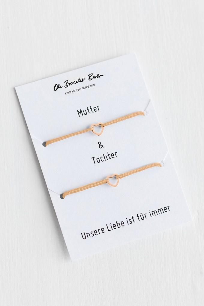Oh Bracelet Berlin - 2er-Set: Armband »Mutter & Tochter« Farbe Rosé-gold