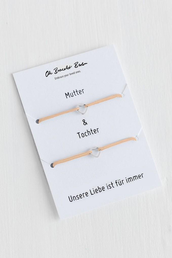 Oh Bracelet Berlin - 2er-Set: Armband »Mutter & Tochter« Farbe Silber