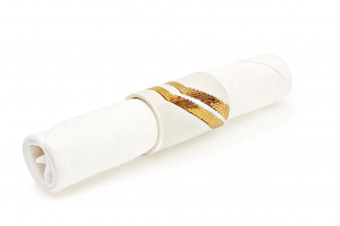 Annika Schüler - porcelain Serviettenring Geo (gold)