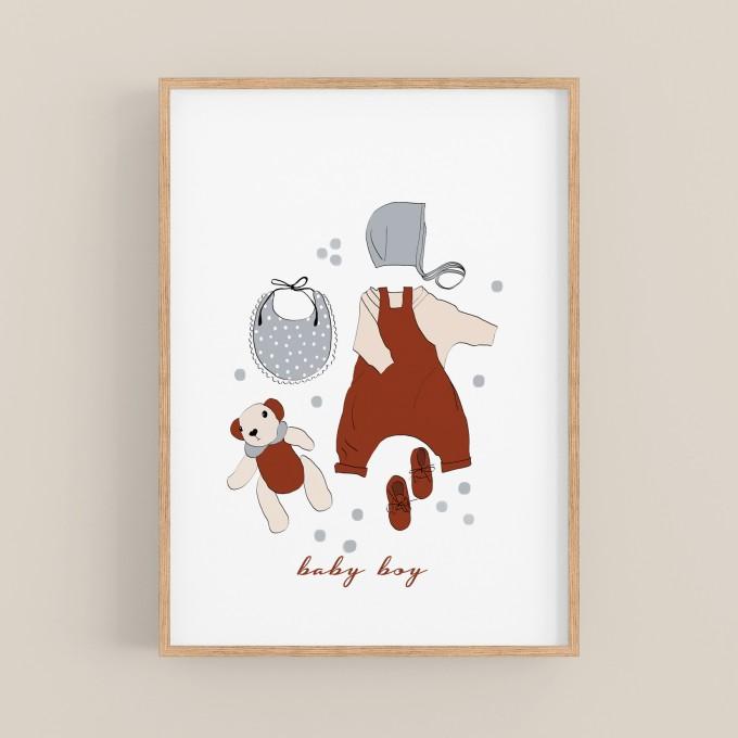 hasenkinder - Digitalprint baby boy DIN A4