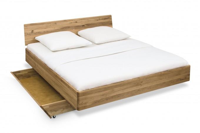 ekomia Bett Schöneberg 3 mit Kopfteil und einem Bettkasten