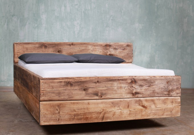 Bauholz Bett Cucuron Rückenlehne